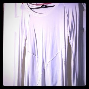 Small high low white Vera wang top